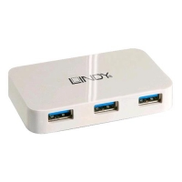 LINDY 43143 HUB USB 3.0 BASIC 4 PORTE BIANCO