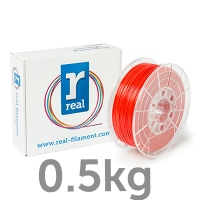 REAL PLA - Red - spool of 0.5Kg - 1.75mm