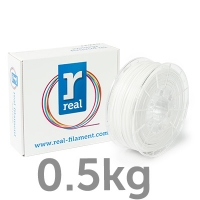 REAL PETG - Opaque white - spool of 0.5Kg - 1.75mm