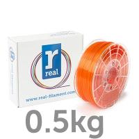 REAL PETG -  Translucent Orange - spool of 0.5Kg - 1.75mm