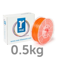 REAL PLA - Fluorescent Orange - spool of 0.5Kg - 1.75mm
