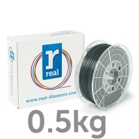 REAL PLA - Gray - spool of 0.5Kg - 1.75mm