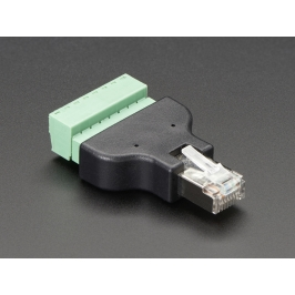 Ethernet RJ45 Male Plug Terminal Block