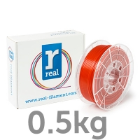REAL PETG - Opaque red - spool of 0.5Kg - 2.85mm