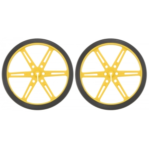 Pololu Wheel 80×10mm Pair - Yellow