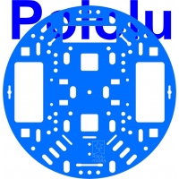 Pololu 5 (inches) Robot Chassis RRC04A Solid Light-Blue