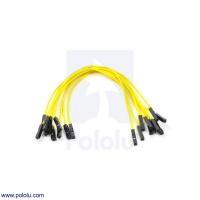 Premium Jumper Wire 10-Pack F-F 6 (inches) Yellow