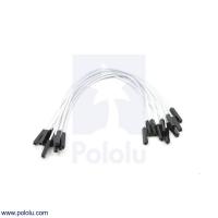 Premium Jumper Wire 10-Pack F-F 6 (inches) White