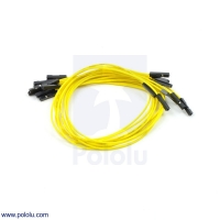 Premium Jumper Wire 10-Pack F-F 12 (inches) Yellow