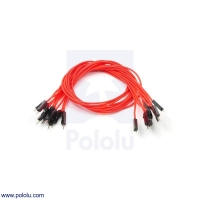 Premium Jumper Wire 10-Pack M-M 12 (inches) Red
