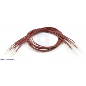 Wires with Pre-crimped Terminals 10-Pack M-M 12 (inches) Brown