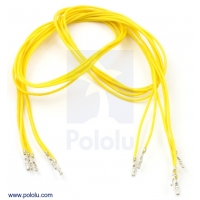 Wires with Pre-crimped Terminals 5-Pack F-F 24 (inches) Yellow