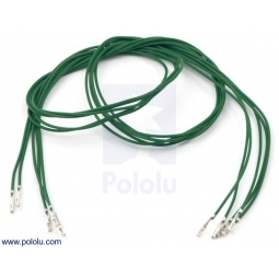 Wires with Pre-crimped Terminals 5-Pack F-F 24 (inches) Green