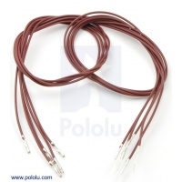 Wires with Pre-crimped Terminals 5-Pack M-F 24 (inches) Brown