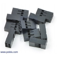 0.1 (inches) (2.54mm) Crimp Connector Housing: 2x3-Pin 10-Pack