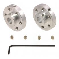 Pololu Universal Aluminum Mounting Hub for 1/4″ Shaft, #4-40 H
