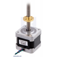 Stepper Motor with 18cm Lead Screw: Bipolar, 200 Steps/Rev, 42×