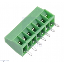 Screw Terminal Block: 7-Pin, 0.1″ Pitch, Side Entry