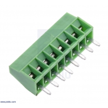 Screw Terminal Block: 8-Pin, 0.1″ Pitch, Side Entry