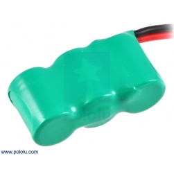 Rechargeable NiMH Battery Pack: 3.6 V, 200 mAh, 3x1 1/3-AAA Cell