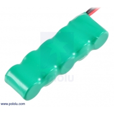 Rechargeable NiMH Battery Pack: 6.0 V, 200 mAh, 5x1 1/3-AAA Cell