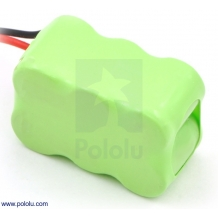 Rechargeable NiMH Battery Pack: 7.2 V, 200 mAh, 3x2 1/3-AAA Cell