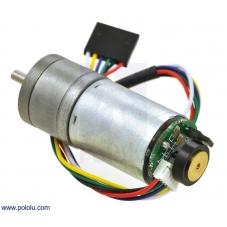47:1 Metal Gearmotor 25Dx52L mm LP 6V with 48 CPR Encoder