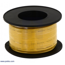 Stranded Wire: Yellow, 30 AWG, 100 Feet