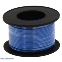 Stranded Wire: Blue, 22 AWG, 50 Feet
