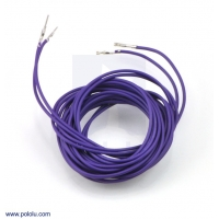 Wires with Pre-crimped Terminals 2-Pack M-F 60 (inches) Purple