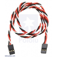 Twisted Servo Extension Cable 24 (inches) Female - Female