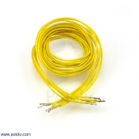 Wires with Pre-crimped Terminals 5-Pack F-F 36 (inches) Yellow