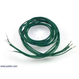 Wires with Pre-crimped Terminals 5-Pack M-F 36 (inches) Green