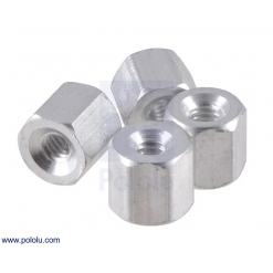 Aluminum Standoff: 3/16 (inches) Length, 2-56 Thread, F-F (4-Pac