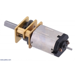 210:1 Micro Metal Gearmotor HPCB with Extended Motor Shaft