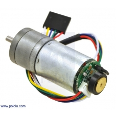 34:1 Metal Gearmotor 25Dx52L mm HP 12V with 48 CPR Encoder