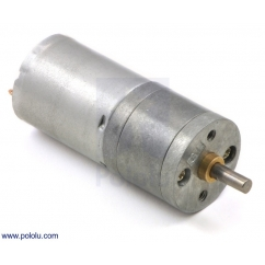 9.7:1 Metal Gearmotor 25Dx48L mm MP 12V