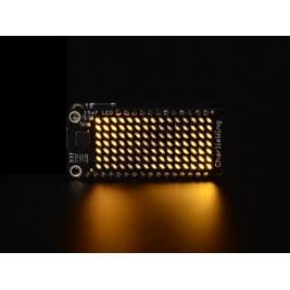 Adafruit 15x7 CharliePlex LED Matrix Display FeatherWing Yellow
