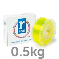 REAL PETG - Translucent Yellow - spool of 0.5Kg - 2.85mm