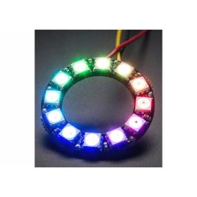 Anello con 12 LED RGB WS2812 e driver integrato