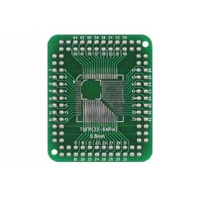 Circuito stampato adattatore da TQFP32 a TQFP100 pin