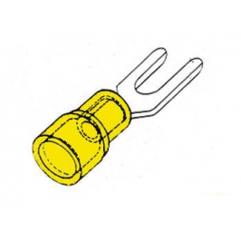 CONNETTORE A FORCELLA GIALLO 6,3 mm