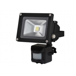 Faro LED luce fredda da esterno IP65 con PIR - 10 W