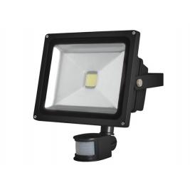 Faro LED luce fredda da esterno IP65 con PIR - 30 W