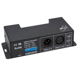 Controller DMX 4 canali per strip a LED - 6 A