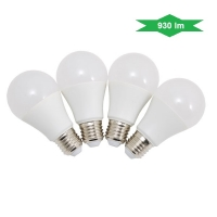 Set 4 lampade a LED luce calda A60 - E27 - 10W
