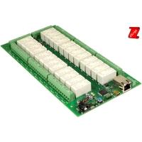 Scheda Ethernet 24 relè 16 A, 8 canali I/O