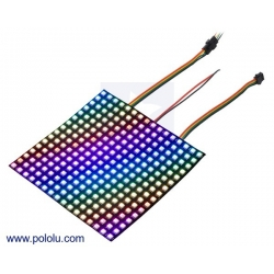 Addressable RGB 16x16-LED Flexible Panel, 5V, 10mm Grid (SK9822)
