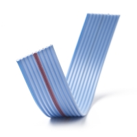 8-wire 28AWG flat ribbon cable, Blue (10cm)