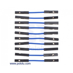 Premium Jumper Wire 10-Pack F-F 1 (inches) Blue